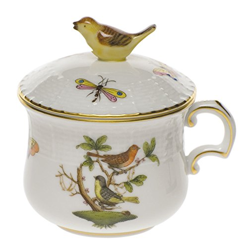 Herend China Rothschild Bird Pot De Creme