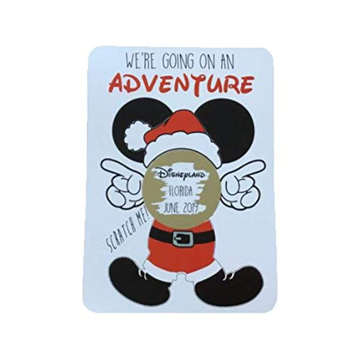 Scratch Off Card. Scratch & Reveal Surprise Trip Card. Travel Card. Disneyland Holiday Card.