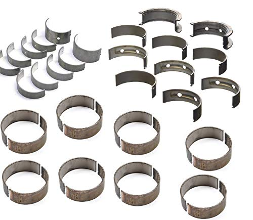 Use a 350 Crank in a 400 Block with Clevite H series Race Main & Rod Bearings & King Spacer Bearings compatible with performance GM Chevy Stroker 377