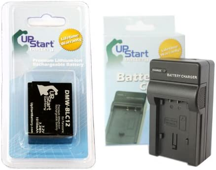 Compatible with Panasonic DMW-BLC12 Digital Camera Batteries and Chargers Replacement for Panasonic DMW-BLC12PP Battery and Charger 1010mAh 7.2V Lithium-Ion