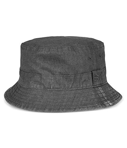 Sean John Mens Reversible Bucket Hat Grey L/XL