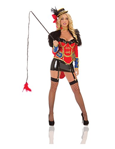 Starline Women's Ring Leader Costume Set, Red/Black, Small
