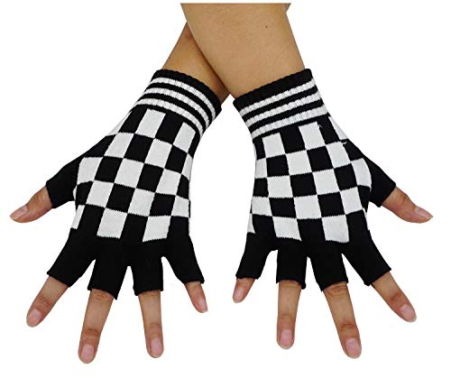 Bienvenu Unisex Half Finger Gloves Kint Convertible Fingerless Winter Mitten, Black -
