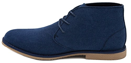 Londen Mist Mens Broadstreet Chukka Boot Marine Canvas