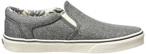 Vans - Asher, Zapatillas Hombre, Blanco (checkers/black/natural), 38.5 EU Gris (palm Leaf/washed Black)
