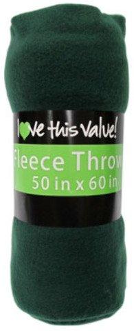 Ddi Fleece Blankets - Dark Green Color (Pack Of 24)