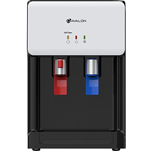 Avalon Countertop Self Cleaning Bottleless Water Cooler Water Dispenser - Hot & Cold Water, NSF Certified Filter- UL/Energy Star Approved, White by Avalon (Image #1)