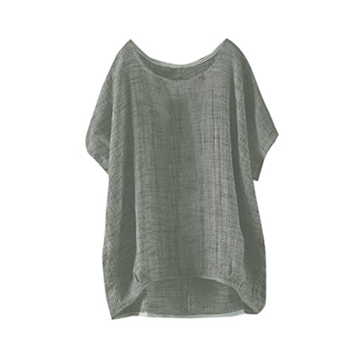 TLTL Womens Bat Short Sleeve Casual Loose Top Thin Section Blouse T-Shirt Pullover