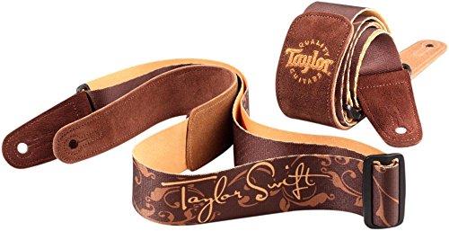 Signature Model Guitar Pick - Taylor Taylor Swift Signature Guitar Strap - Brown