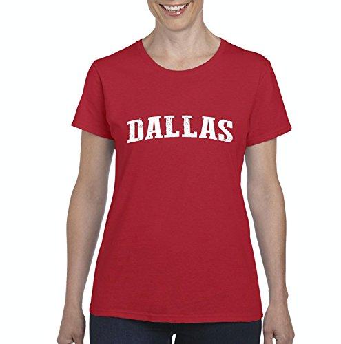 Mom`s Favorite Texas State Flag Proud Texan Dallas Traveler`s Gift Women's Short Sleeve T-Shirt (2XLR) Red ()