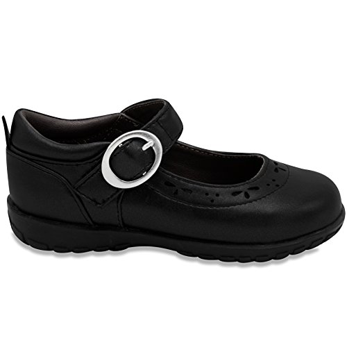 French Toast Girls Gina Flat Mary Jane Oxford School Uniform 9 Black by French Toast (Image #2)