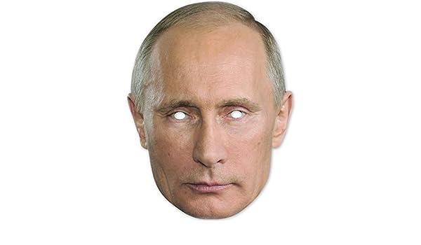Amakando Máscara de cartón Putin / Color Carne / Máscara de ...