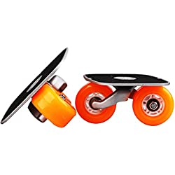Orange Portable Roller Road Drift Skates Plate Anti-slip Board Aluminum Truck With PU Wheels With ABEC-7 608 Bearings