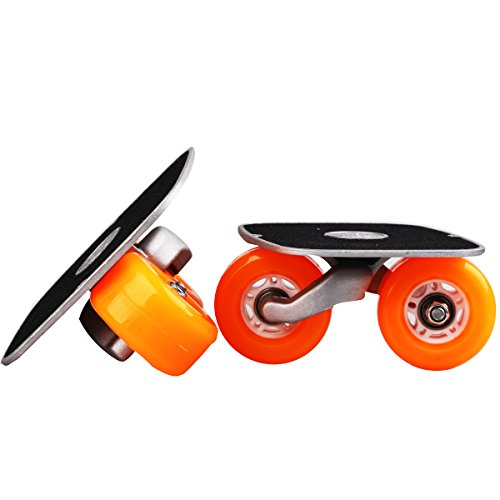 Orange Portable Roller Road Drift Skates Plate Anti-slip Board Aluminum Truck With PU Wheels With ABEC-7 608 Bearings (Snowboard Instruction Dvd compare prices)