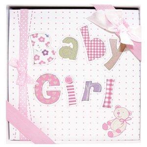 6 1/2 Baby Photo Album for Girls/Baby Shower Gift/Newborn/Infant Gift/Babptism/Christening Gift by Kelli's   B00DVSM7YU