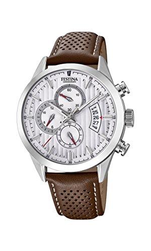 Men's Watch Festina - 20271/1 - Chronographe - Date - Leather Band