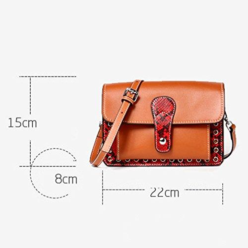 Vintage Bandoulière Embrayage Messenger Main Sac Sac Véritable Femmes KYOKIM Main Sac Cuir Brown épaule En Petit à Bag à Carré Fw5wYx