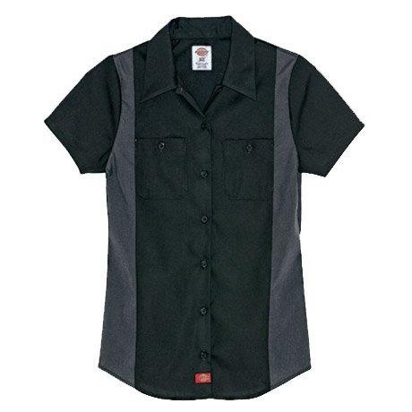 Shirt Collar Dickie - FS524 Women's Short Sleeve Color Block Shirt
