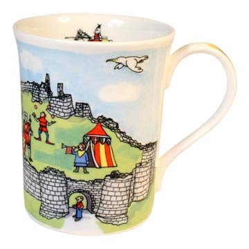 Alison Gardiner National Trust range - Corfe Castle Fine Bone China Mug - Corfe Castle