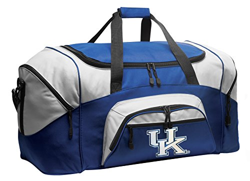 Large Kentucky Wildcats Duffel Bag Large University of Kentucky Gym Bag Luggage by Broad Bay