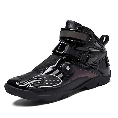 Zimrobin Motorrad Stiefel Rennschuhe Stylist Kurze Stiefeletten Motorrad Off Road Touring Schuhe wasserdicht gepanzert…