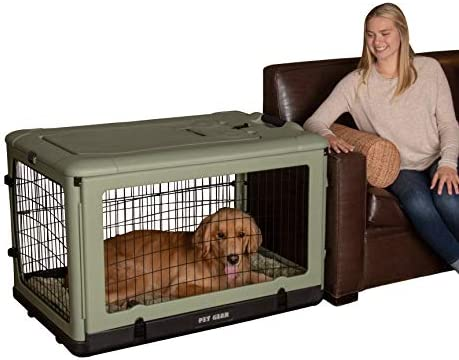 Pet Gear The Other Door 4 Door Steel Crate with Plush Bed Travel Bag for Cats Dogs