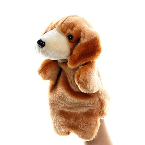 SweetGifts Dog Hand Puppets Puppy Plush Animal Toys for Imaginative Pretend Play Stocking Storytelling