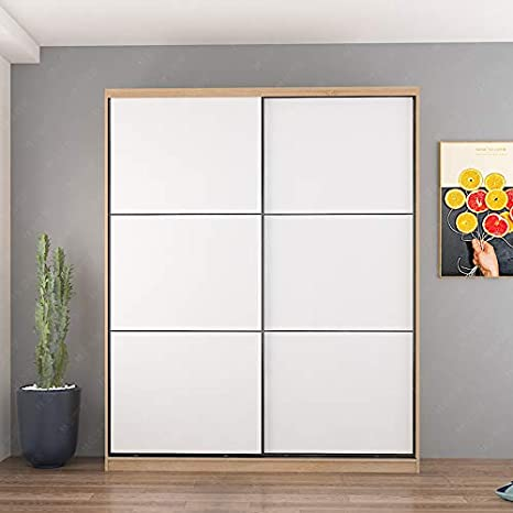 Re Wardrobe Italian Simple Modern Cabinet Locker Small Wardrobe Storage Cabinet Nordic Sliding Door Bedroom Sliding Door Wardrobe Home Kitchen