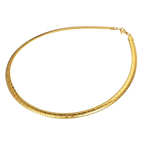 "HOUSWEETY Stainless Steel Flat Chain Necklace 45cm(17 6/8"")"