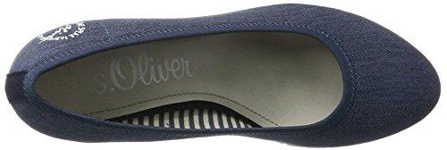 s.Oliver 22406, Zapatos de Tacón para Mujer Azul (JEANS 845)