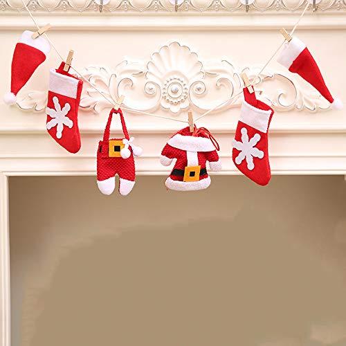 Christmas DIY Flag Christmas Pull flag Christmas Fireplace Decoration, Christmas Tree Decoration, 6Pcs/Set by TLT Retail (Image #5)