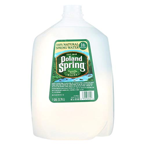POLAND SPRING, Natural Spring Water, Pack of 6, Size 1 GAL ()