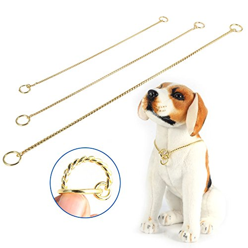 - FAVOLOOK Heavy Metal Dog Chain, Snake Chain Dog Show Collar Dog Training Choke Collar Strong Chrome or Gold 3mm 4mm 5mm (0.1215.75