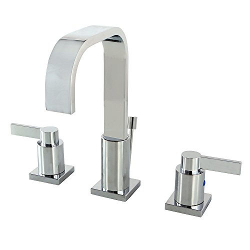 - KINGSTON BRASS FS8961CTL Continental Widespread Lead Free Lavatory Faucet with Twin Lever Handles and Retail Pop-Up, Polished Chrome