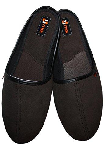 Per 100 Qualitative Di Uomo Testa Pantofole Marrone Scuro Pelle Naturale Moro 5t6qZx