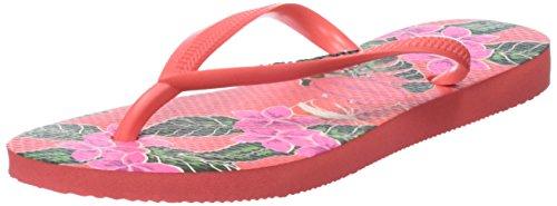 Havaianas Slim Floral, Chanclas Para Mujer Rosa (Coralnew)