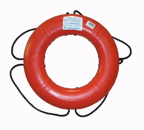 Dock Edge + Inc. USCGA Approved Life Ring Buoy (Orange, 20-Inch)