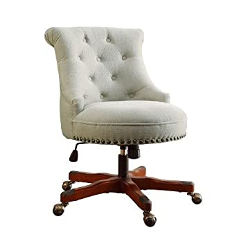 Linon Sinclair Executive Office Chair Natural