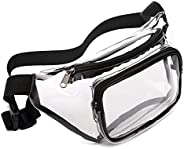 Clear Fanny Pack Waterproof Cute Waist Bag Stadium Approved Clear Purse Transparent Adjustable Belt Bag for Wo
