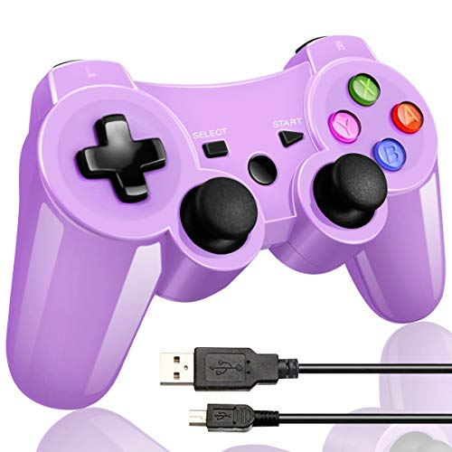 - Double Vibrating Wireless Controller PS3 Charge Cable (Bright Purple).