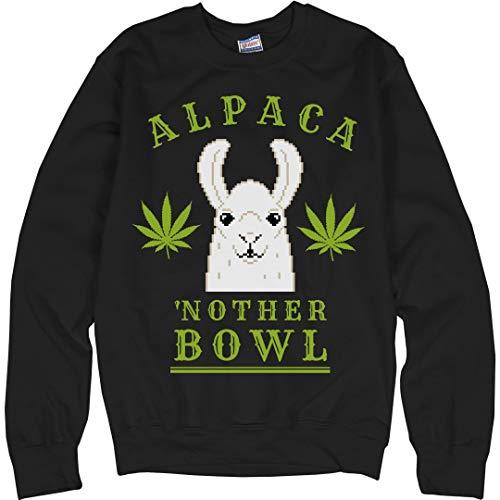 ca'nother Bowl Llama Green: Unisex Ultimate Crewneck Sweatshirt ()