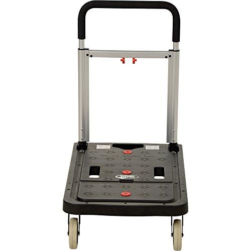 Vestil FF-FPT-1627 Fold Flat Plastic Cart, 26.75'' Length, 16.25'' Width, 36.5'' Height, 300 lb., Black by Vestil (Image #4)
