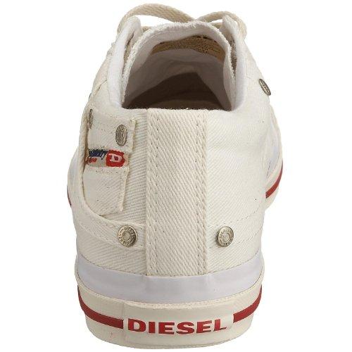 Diesel Exposure Low Gebrochenes Weiß Rot Herren Canvas Neu-Trainer-Schuhe Stiefel