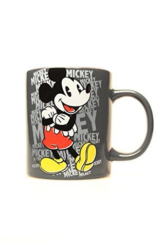 Silver Buffalo DL0132 Disney Mickey Mouse Ceramic Mug, 14 oz., Gray