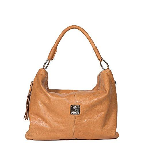 I Medici Bruna Italian Handbag, Shoulder Tote for Women in Brown ()