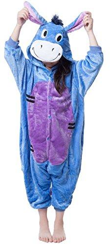 Sunrise Childrens Pajamas Sleeping Wear Anime Cosplay Onesie Homewear (125#, (Childs Brown Donkey Costume)