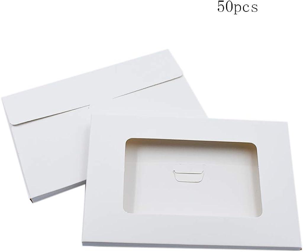 Ogquaton Postcard Envelope Kraft Postcard Blanks Postcard Packing Case Hollow Postcard Organizer Pack of 50pcs