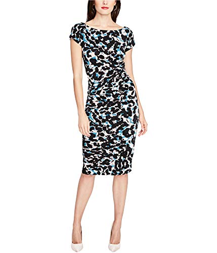 RACHEL Rachel Roy Womens Printed Ruched Bodycon Dress Pink M