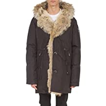 Pajar Men's Nikolai Hooded Coyote Fur Trim Parka, Black, X-Large