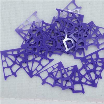 Crafts - 500pcs/lot 2618mm Black Halloween Spider Webs Loose Sequins Beautiful Crafts for Sewing/Webbing DIY Accessory Kids DIY - (Color: -